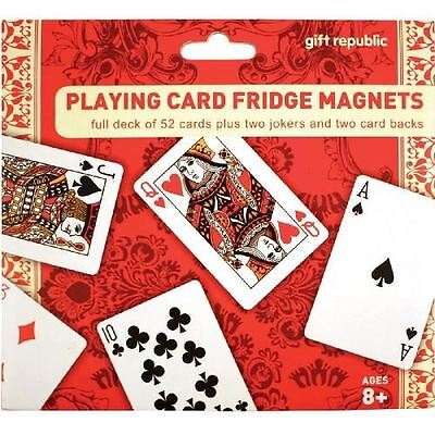 Playing Card Fridge Magnets Full 52 Deck Plus Jokers By Gift Republic