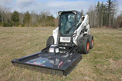 "Skid Steer Bradco 72"" Ground Shark Brush Cutter - High Flow"