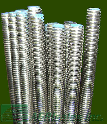 "3/8""-16 x 3' Stainless Steel (SS) Threaded Rod - 5 Pcs"