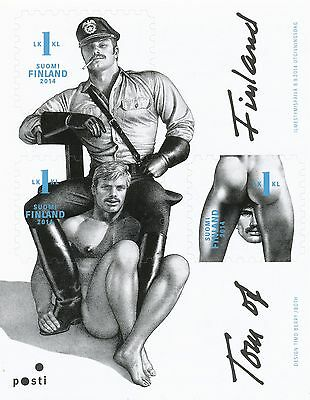 Finland 2014 MNH Sheet - Graphic Artist Tom of Finland - ART - Block of 3 Stamps