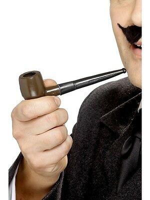 Adult Mens Tales Of Old England Plastic Smoking Pipe Smiffys Fancy Dress