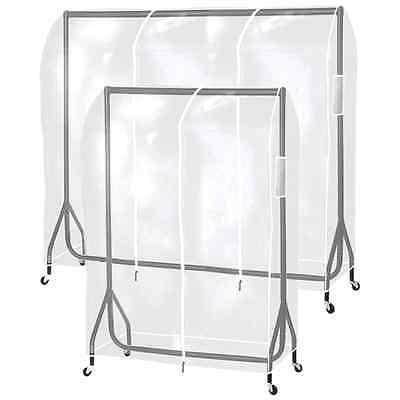 Hartleys Clear Clothes Rail Cover Hanging Garment/Coat Hanger Storage/Protector