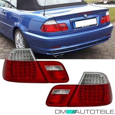 2x BMW E46 Cabrio Led Rückleuchten SET Umbau Facelift M3 Design Rot Weiß 99-03