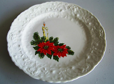 Steubenville Rose Point Christmas Dinner Plate