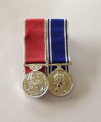 Civilian BEM & Police LSGC Miniature Size Mounted Medals, British Empire Medal