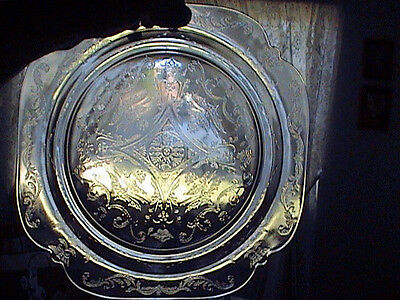 Federal Depression Glass Dinner Plate Clear