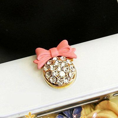 Pink Bling Rhinestone Home Button Sticker for iPhone,iPad,iPod