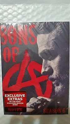 Sons of Anarchy: Season 6 Six (DVD) - NEW Sealed - Shipped Free First Class Now!