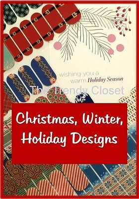 Jamberry Nail Wraps- Christmas Holiday & Winter Designs- Half Sheet & Jam Jrs