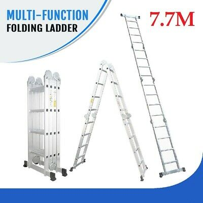 4.7M Multi Purpose Aluminium Folding Extension Ladder Step Telescopic AUS