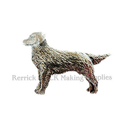 One Pewter Badge For Walking Stick Making Retriever