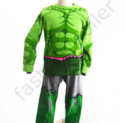 Children HULK  Boys Toddler Costume Pyjamas T-shirt Sleepwear Kids Set Nightie