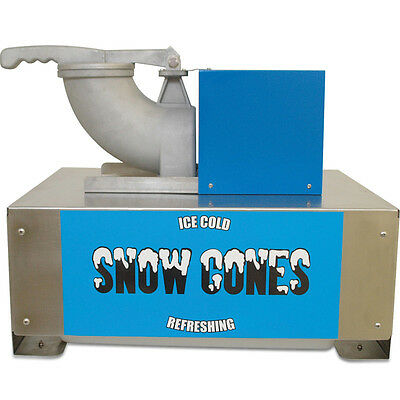 Benchmark USA Commercial Snow Cone Maker, Snow Blitz Shaved Crushed Ice Machine
