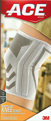 Ace Knitted Knee Brace with Side Stabilizers Large 051131198203DT