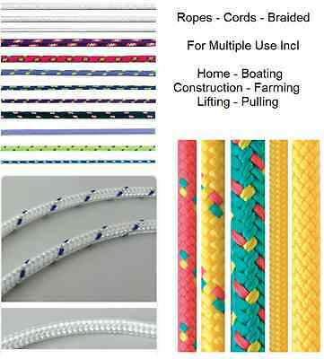 Rope - Cord - Multiple Types & Lengths - Braided - Multi Use  -