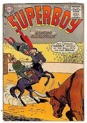 Superboy #42 3.0 Tan To Off-White Pages Silver Age