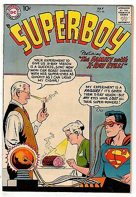 Superboy #66 6.0 Off-White Pages Silver Age