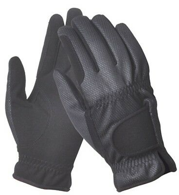Ladies Black Light Weight Summer Gloves - Breathable Water & Wind Resistant
