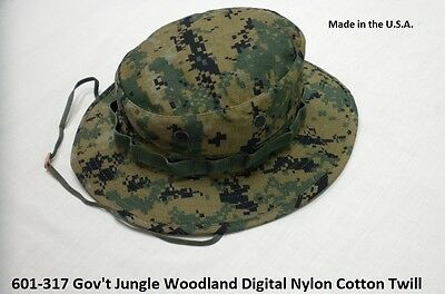 Military Boonie Hat USMC Woodland Digital Camo GI Jungle Hat Made In The U.S.A