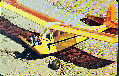 """Vintage BUZZARD BOMBSHELL 50"""" Size of OTFF / RC Model Airplane PLAN + Article"""