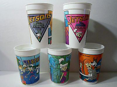 The Jetsons The Movie Collector Plastic Cup Wendy's Restaurant Set Of 5 Promo