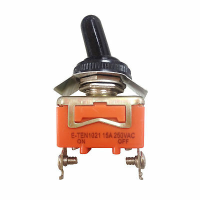 AC 250V 15A Amps ON/OFF 2 Position SPST Toggle Switch With Waterproof Boot