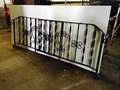 2 Wrought Iron Hand Railings Porch Entry Railing 6' Each Garden Heavy Salvage