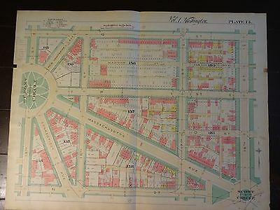 1892 Map of NW DC-Dupont to Scott Circle - Rare large property specific detail.