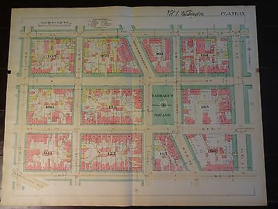 1892 Map of NW DC- Farragut Square - Rare large property specific detail.
