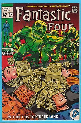 Fantastic Four #85 Marvel Comics Stan Lee Jack Kirby FN/VF