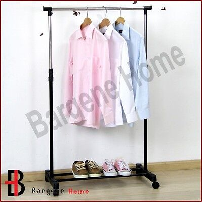Portable Stainless Steel Clothes Organizer Hanger Rack Cloth Coat Garment Dryer