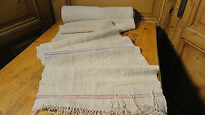 Homespun Linen Hemp/Flax Yardage 11 Yards x 18.5'' Plain  #5619