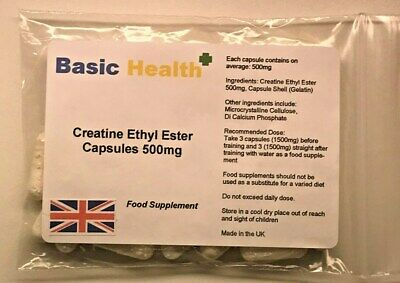 Creatine Ethyl Ester x 120 capsules Muscle Growth Strength Gainer Pump Hench