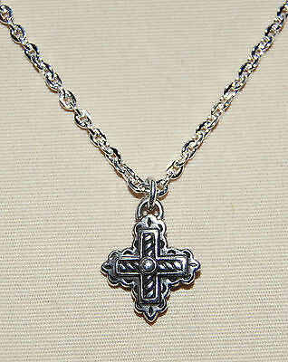 New BRIGHTON Eternity Cross silver BYZANTINE CROSS charm on custom necklace !