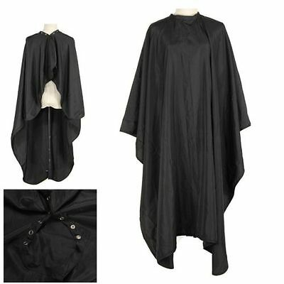 Unisex Adult Black Salon Hairdressing Cutting Hair Cape Cloth Cover Barbers Gown