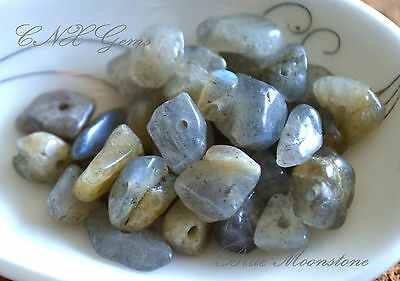 Tumbled Gemstone Natural Crystal Moonstone Chip Stone 5g Drilled DIY Jewellery