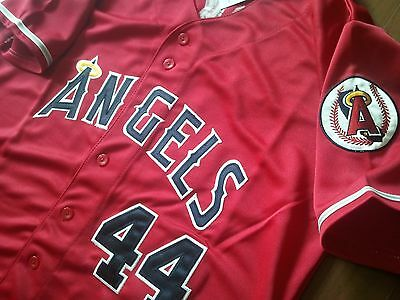 California Angels #44 Reggie Jackson cooperstown w/Patch sewn Jersey Red 54 NWT