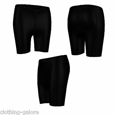 Womens Black Shorts Compression Leggings Gym Pants Running Yoga Ladies Skins