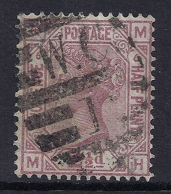 1876 GB SG141 QV 2½d ROSY MAUVE PLATE 6 USED LETTERS 'MH'