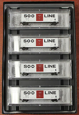 Micro-Trains Z Scale - SOO Line 4 Car Runner Pack - 994 00 055
