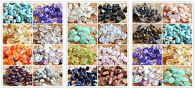 5g of Tumbled Gemstone Natural Crystal with Holes DIY Craft Amethyst Citrine