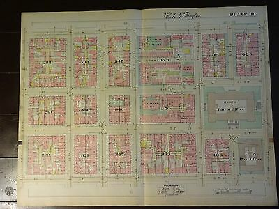 1892 Map of NW DC- Penn Quarter - Rare large property specific detail