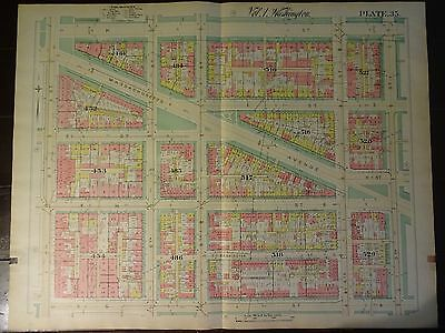 1892 Map of NW DC-  Chinatown - Rare large property specific detail