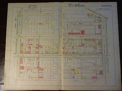 1892 Map of NW DC- Truxton Circle Area - Rare large property specific detail
