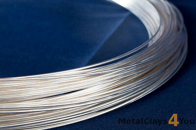 Fine Silver (999) Round Wire 0.25mm to 3.25mm. (Dead Soft)