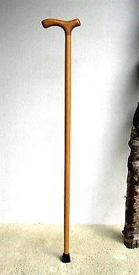 Walking Cane- Natural Maple Shaft- Classic Maple Fritz Handle- Rubber Cane Tip