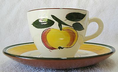 STANGL FESTIVAL CUP AND SAUCER SET