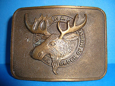 P.A.P. Loyal Order Of Moose Solid Brass BELT BUCKLE Numbered 951