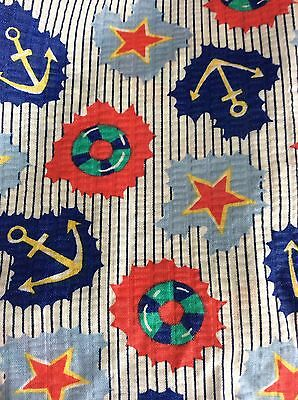 NAUTICAL FABRIC # 7450 BY TANDEM TEXTILES  BY THE YARD