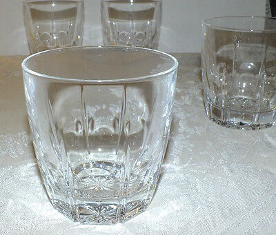 CRISTAL CRIS D'ARQUES BERGERAC OLD FASHIONED GLASSES LOT OF 5  EXC